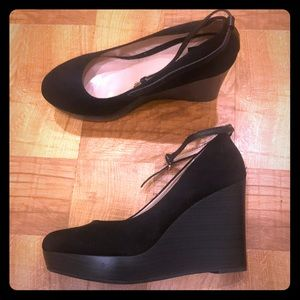Report R2 platform wedges with ankle straps